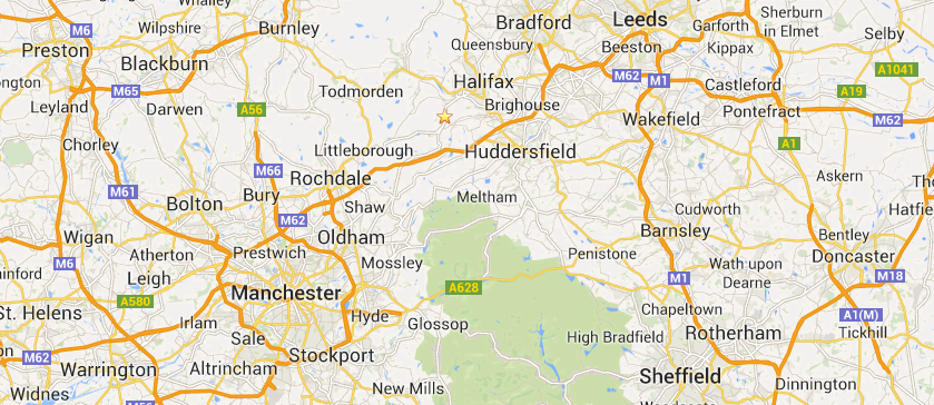 Manchester and Yorkshire Asbestos Map